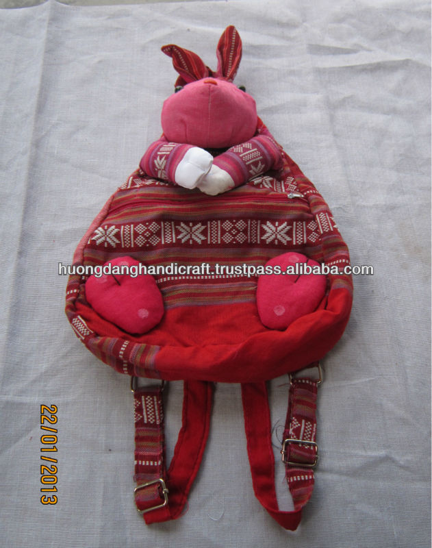 Baby school backpack handmade from brocade fabric, high quality and eco-friendly
