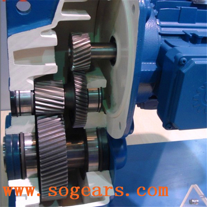 Shaft Helical Reducer Gear box With Electrical Motor drill head speed reducer