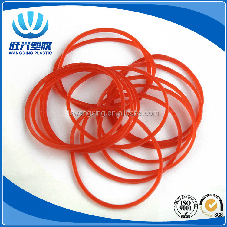 Hot sell elastic band natural transparent red rubber bands for money