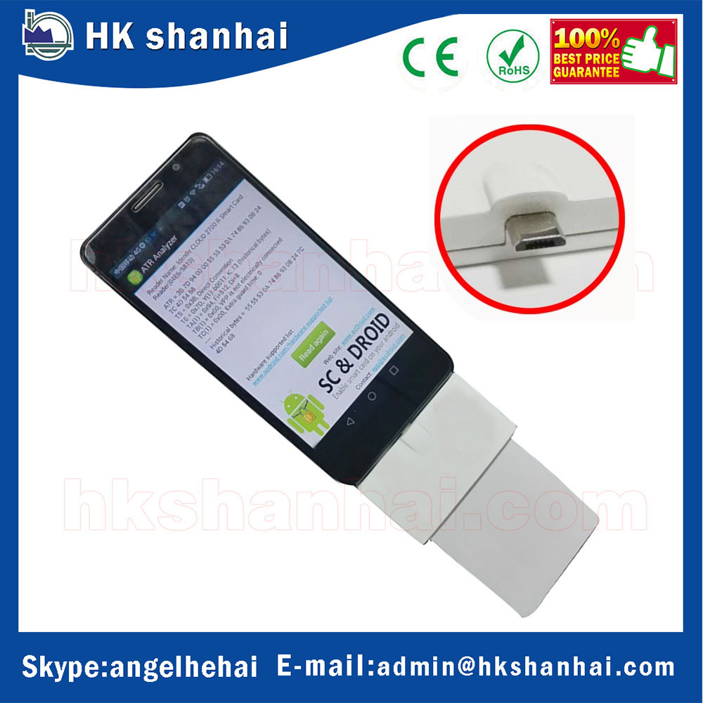 smart card reader MCR3511-OTG mobile phone IC chip card smart card reader writer support micro USB contact