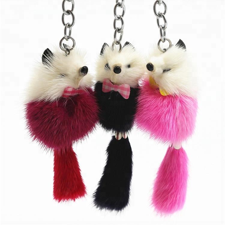 Large Fox Tail Keychain Fur Tassel Car Key ring Bag Charm 4 Colors Key Ring!