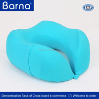 Skin-friendly Fashionable Cover U-Shape Memory Foam Neck Pillow for Travel By Car/Bus/Airplane With Waterproof Label ODM