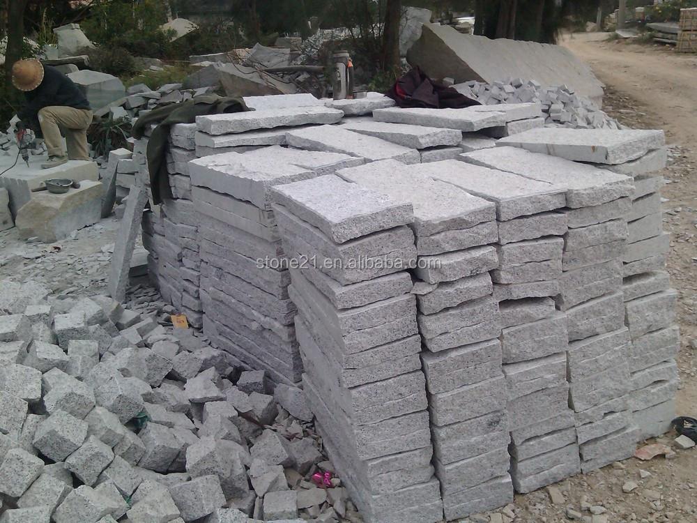 Granite Stone Product : G grey granite flamed surface paving slabs buy