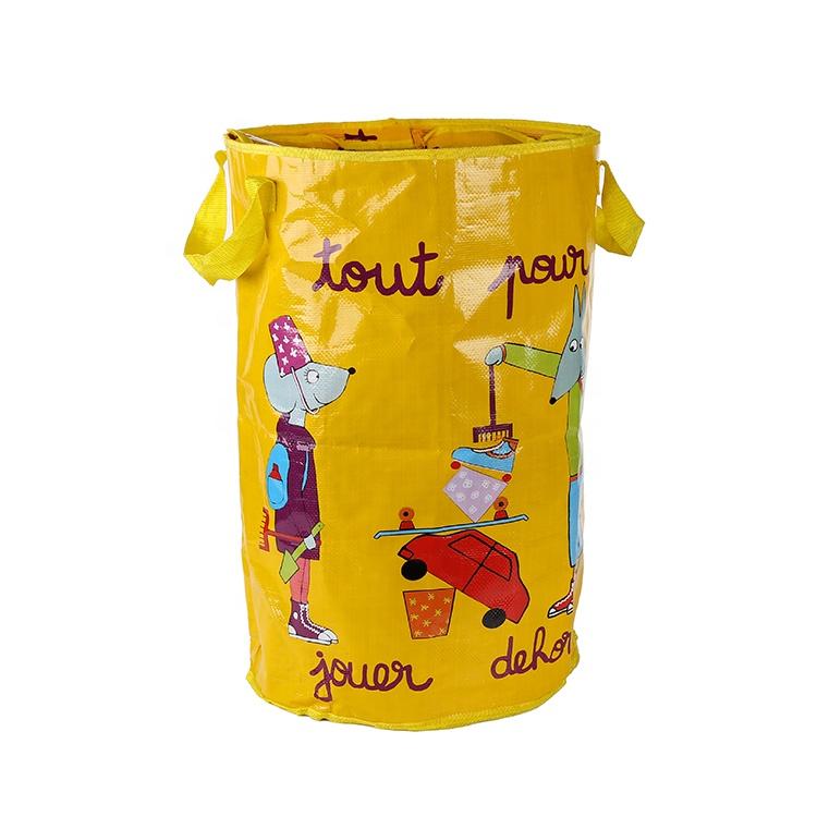 चीन आपूर्तिकर्ता OEM कस्टम लोगो मुद्रित उच्च गुणवत्ता संभाला फैशन पीपी बुना बैग
