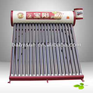 2018 heat quickly advanced compact non-pressure solar heater for hard water with new silicon ring