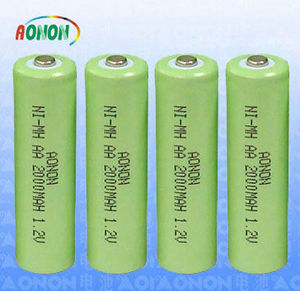 1.2V AA 2000mah nickel metal hydride rechargeable battery