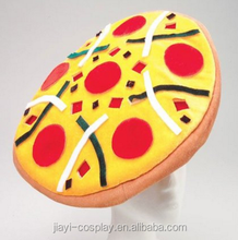 cheap prcie yellow color pizza hat hamburger hats for halloween party