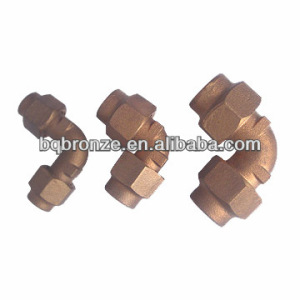 cast bronze brass elbow compression fitting