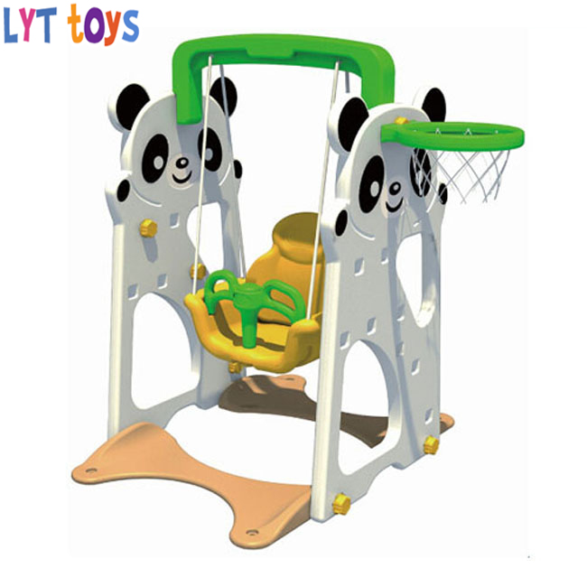 Elephant style cartoon kids slide and swing set playground kids indoor plastic slide
