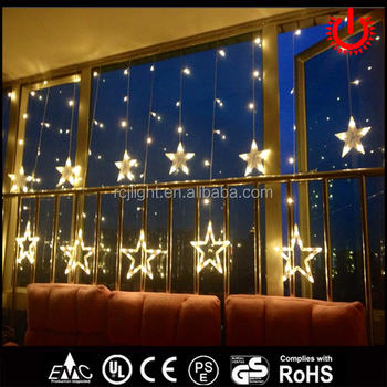 2018 hot christmas wedding decoration lights string curtain ice star light