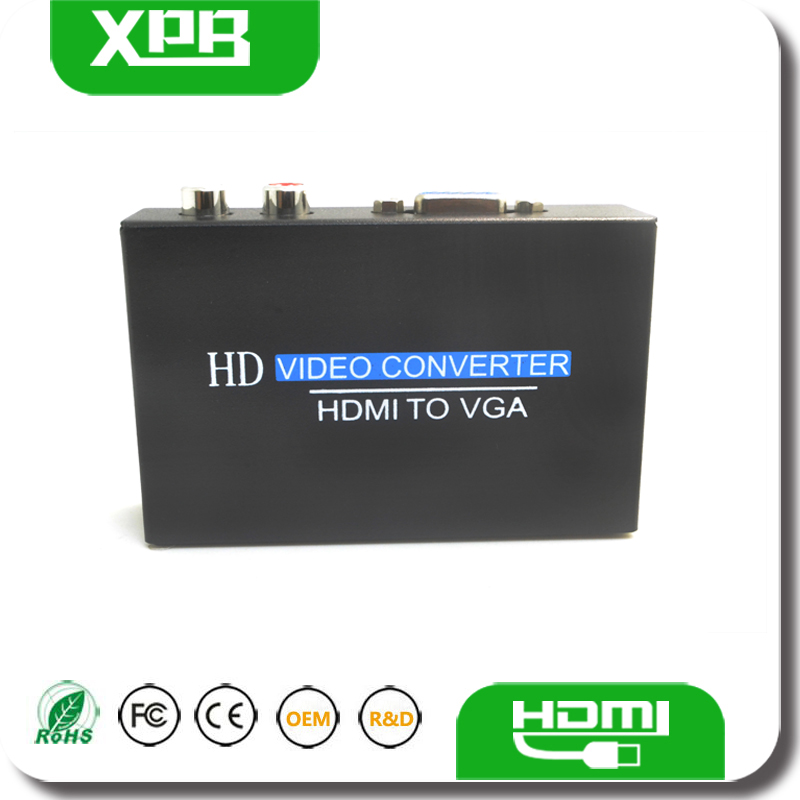 HDMI VGA Connector 1920x1080 With Audio