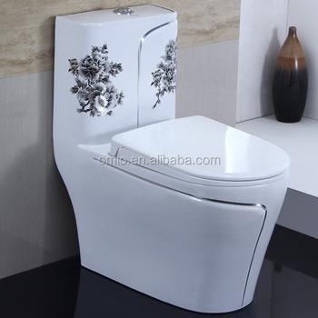 Chinois Style Couleur Toilette En Céramique Wc Toilette Peinte À La ...