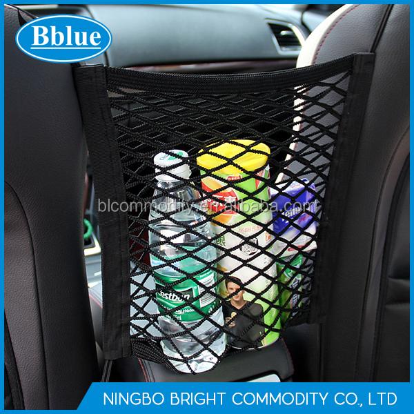 2 Layer Car Seat Storage Mesh Organizer Back Net Bag Barrier Of Backseat