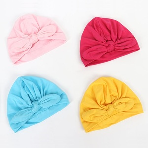 Newborn Hospital Hat Infant Baby Hat Cap with Big Bow Soft Cute Knot Nursery Beanie
