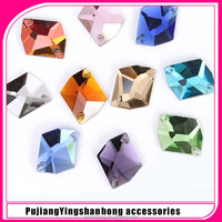 Free samples shaped decorative flat back glass beads