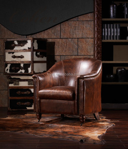 genuine leather leisure antique reproduction armchairs french furniture