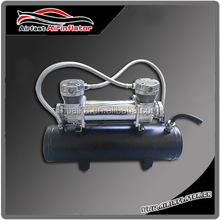 12V air compressor chrome and black hot selling 12V Two cylinder suspension compressor 200 psi for off -road car and truck