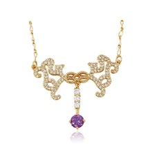 43082 Xuping Jewelry Fashion 18K Gold Plated Women Pendant Necklace