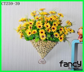 New design hanging flower arrangement for wall and home decor new design hanging flower arrangement for wall and home decor artificial yellow sunflowers for sale mightylinksfo