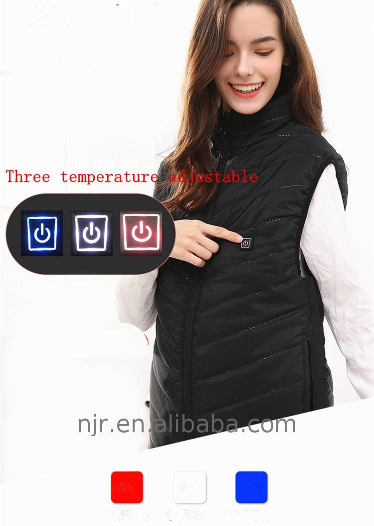 Personalized wool heated vest women's sleeveless vest-large
