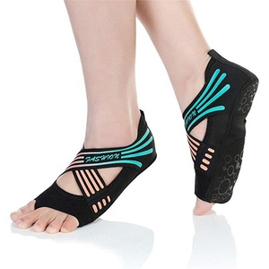 A large number of new arrival soft and non-slip yoga socks shoes