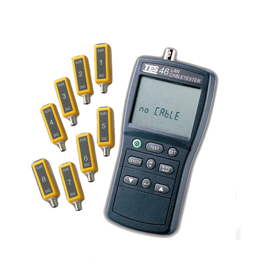 TES46 Handheld UTP FTP Coax Cables Network Cable <strong>Tester</strong> TES-46