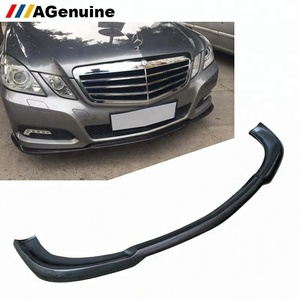 Real carbon fiber front bumper lip spoiler car front bumper chin for Mercedes-Benz E class W212