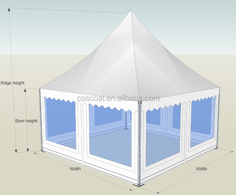 Custom Aluminum Alloy Frame Double PVC Coated Transparent Outdoor Event Gazebo Tent