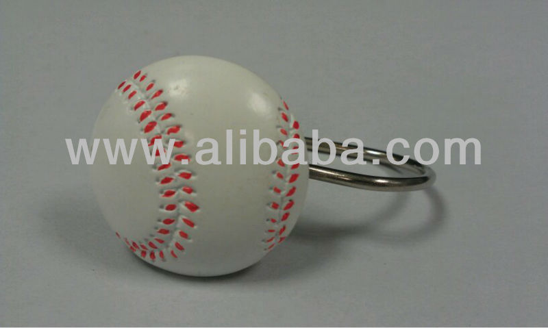 Baseball Style Shower Curtain Hooks