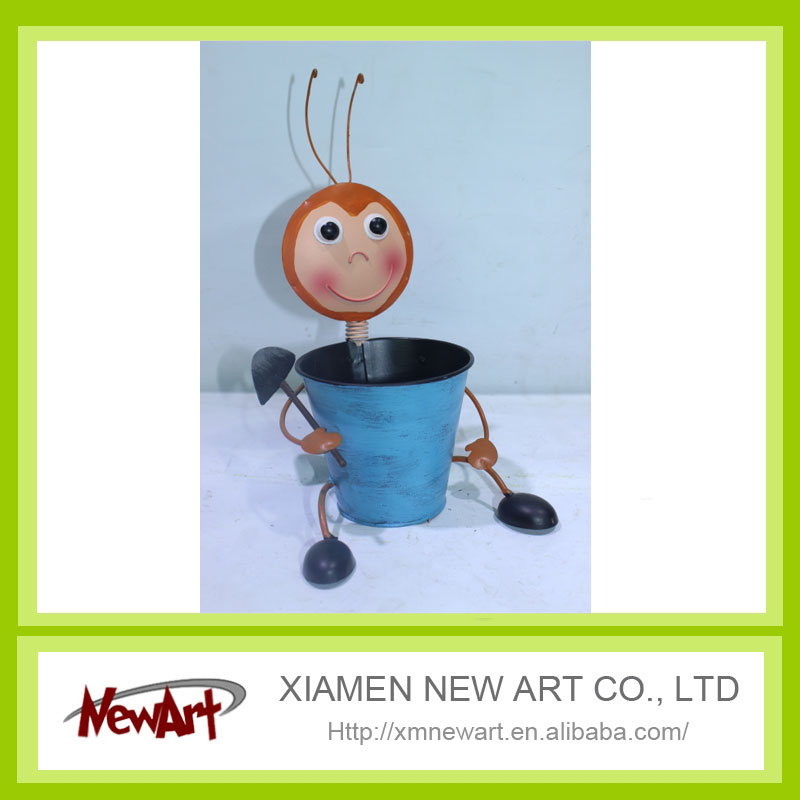 Matel flowers pot waste material craft gifts buy waste for Skilled craft worker makes furniture art etc