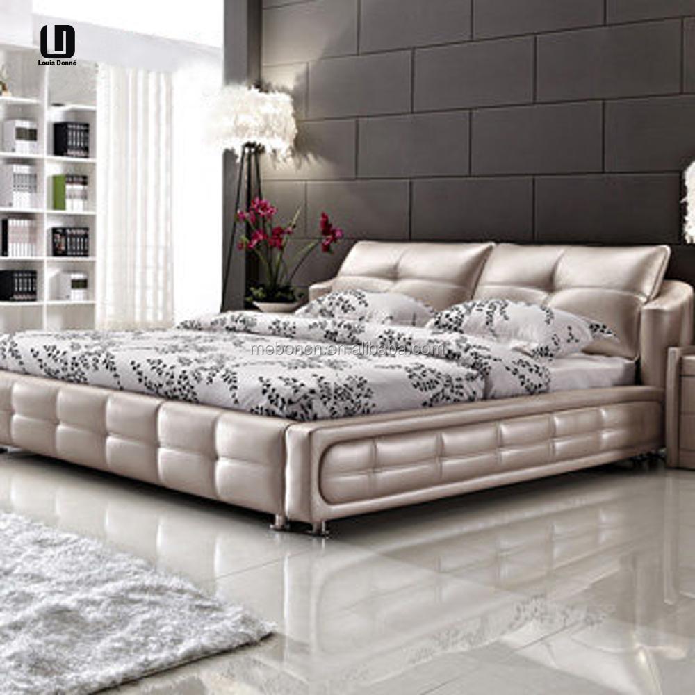 Hot!!! Moderne witte diamant pu/pvc van hoge kwaliteit bed ontwerp ...