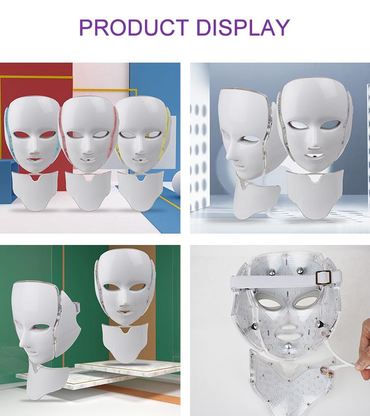 PDT-Lichttherapie in Korea-Gesichtshaut mit bunter Schönheit des Halses führte Gesichtsmaske
