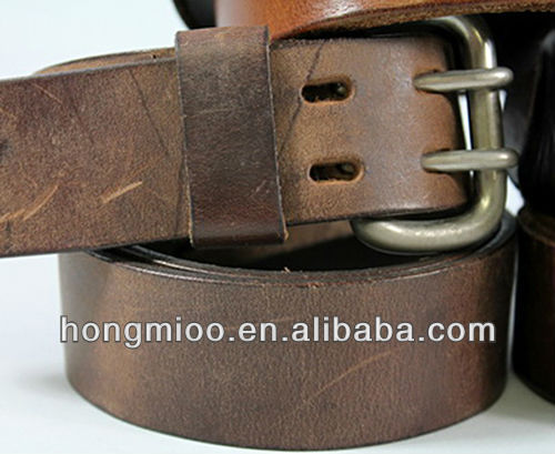 International Men's belts genuine leather Fashion Brown Gold Auto Buckle