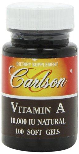 Carlson Labs Vitamin A Natural, 10000 IU, 100 Softgels