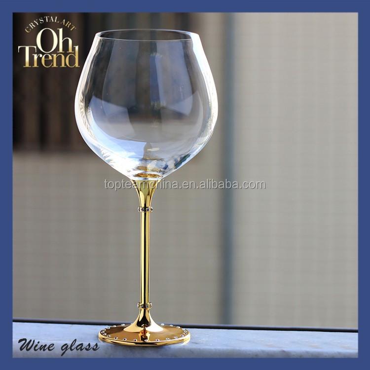 verrerie fabricant main 630 ml en gros verres vin verre boire avec diamant pour wendding. Black Bedroom Furniture Sets. Home Design Ideas