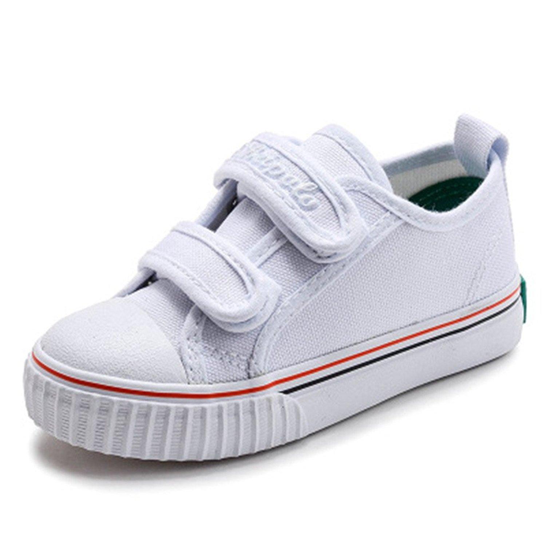 c7c940dd81ae4a A Kids Canvas Shoes Boys Girls Tennis Kids Shoes Children Sneakers(White