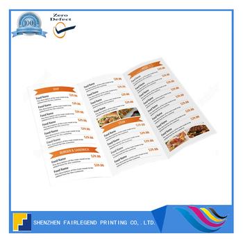 China 20 Years Offset Menu Printer Tri Fold Restaurant Menu Printing Buy Tri Fold Restaurant Menu Printing Tri Fold Restaurant Menu Print Tri Fold