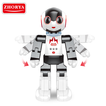 Zhorya newest products for 2018 kids cute remote control tiny smart toy robot with light