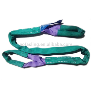 custom colorful 5 6 10 ton round webbing power capacity lifting slings belts for container crane