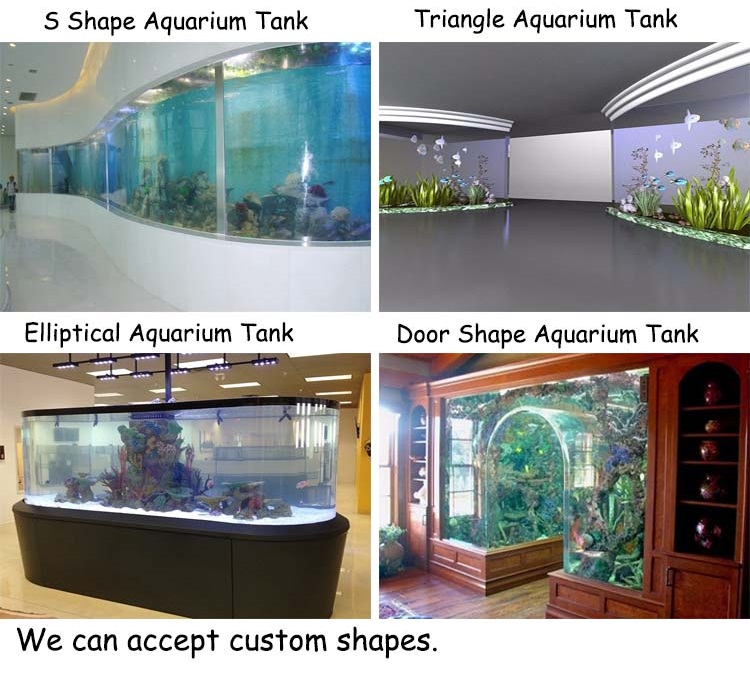 Factory custom large acrylic project plastic round tank