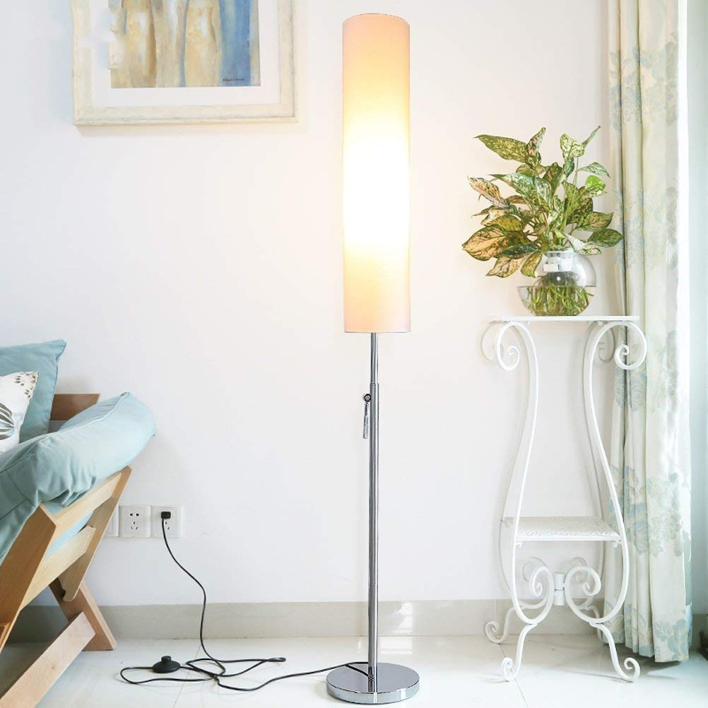 WAN SAN QIAN- Creative Cloth Shade Living Room Simple Adjustable Iron Vertical Floor Lamp E271,165x22cm Floor Lamp