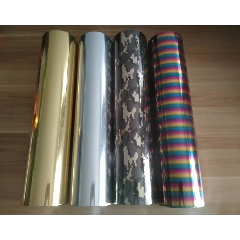 CheoNet Metallic Laser Heat Transfer Vinyl T-shirt Iron On Frilm DIY Roll