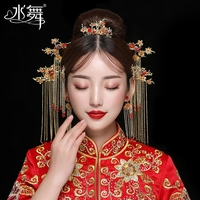 A3538 Chinese Style Zircon Gold Bridal Wedding Hair Accessories With Hair Comb Hairpin Earring 7 Suits