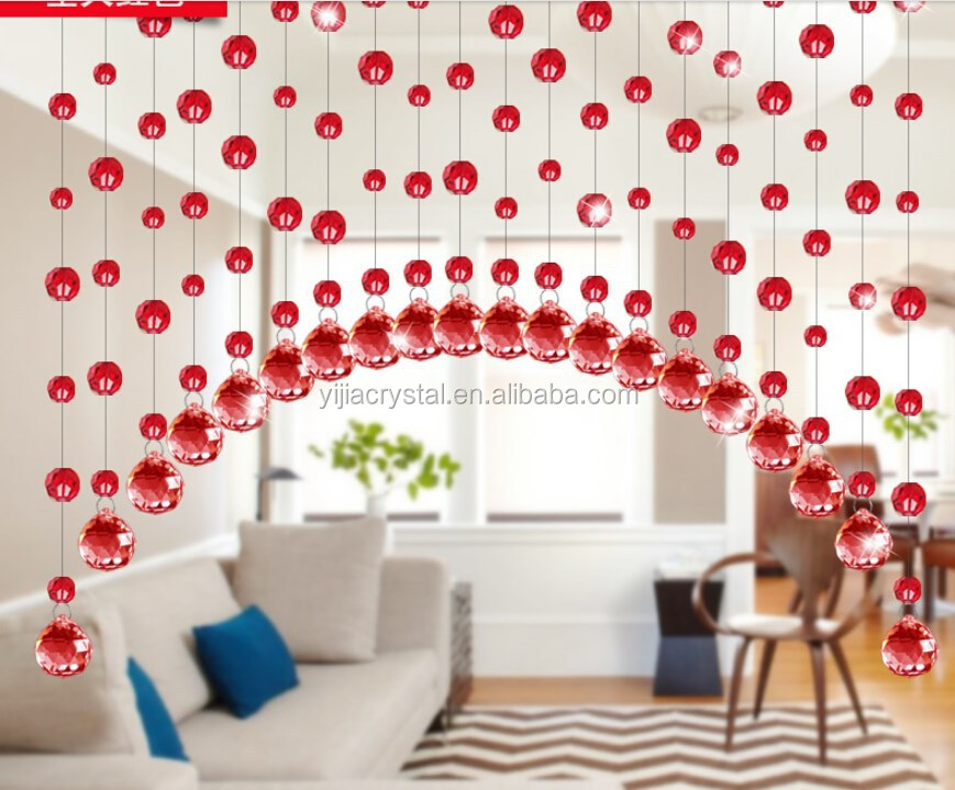 Crystal Feng Shui Curtain Porch Bead Partition For Decorate The ...