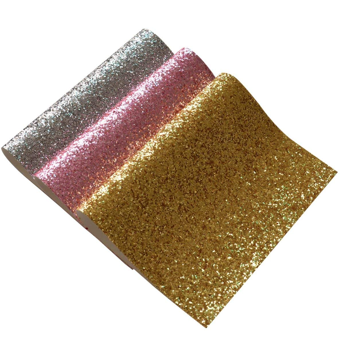 Get Quotations · Chunky Glitter Fabric Sheets- 3 Pieces of Assorted Colors  8