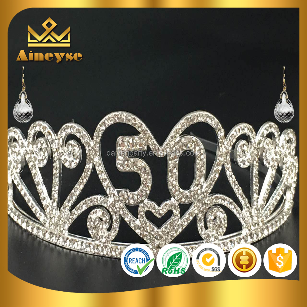 50th year old birthday crown as a gift with best quality