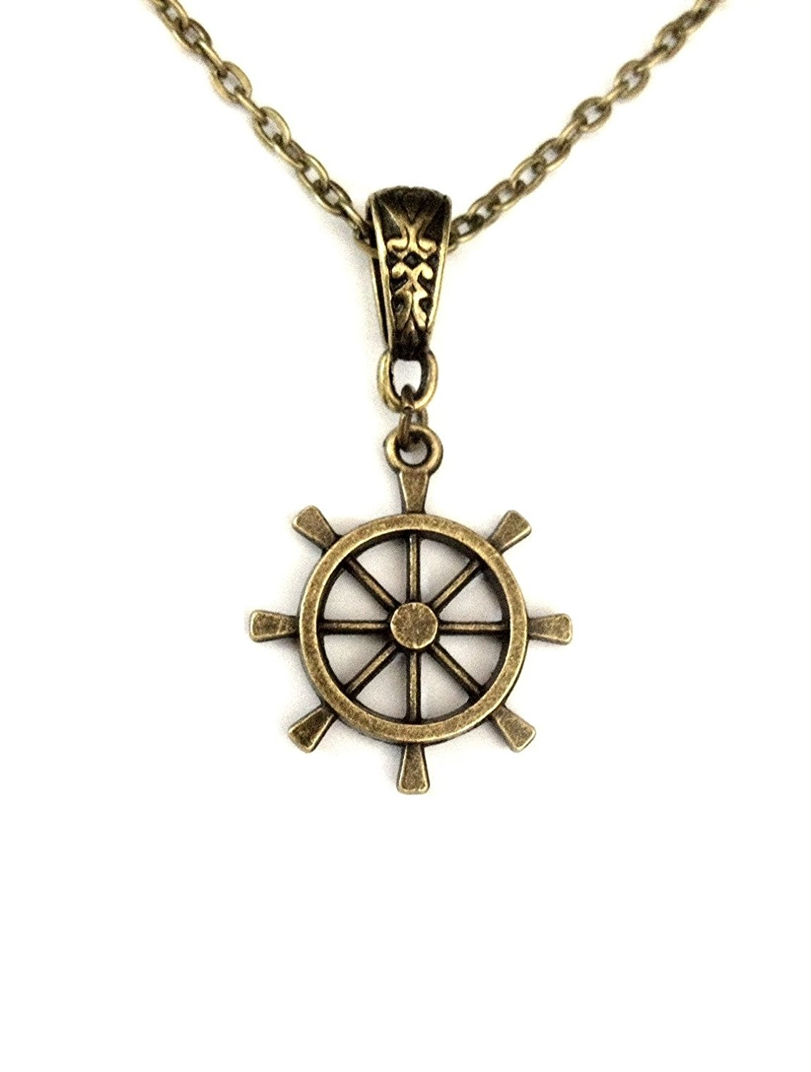 Cheap dharma wheel pendant find dharma wheel pendant deals on line dharma wheel solid antique bronze necklace womens boxed gift wrapped aloadofball Gallery