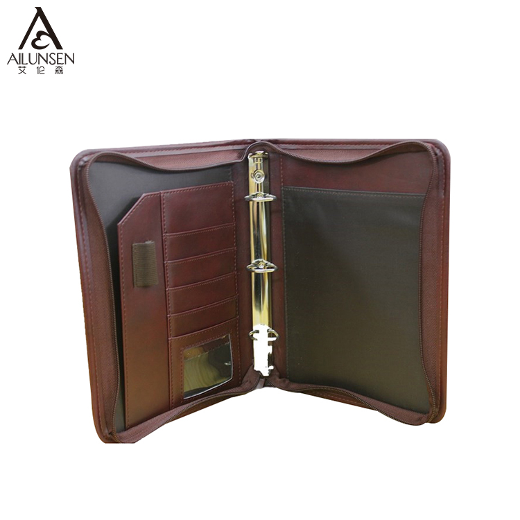 Super Quality Custom 3 Ring Binder ธุรกิจ Zippered PU