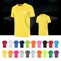 v neck running night company uniforms Breathable custom cheap dry fit mans t shirts