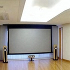 Best quality roll-up rear material electric tab tension projection screen